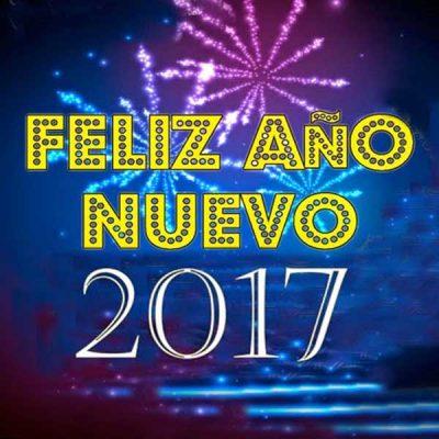 saludos de ano nuevo 2017 amarillo