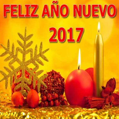 saludos de ano nuevo 2017 vela