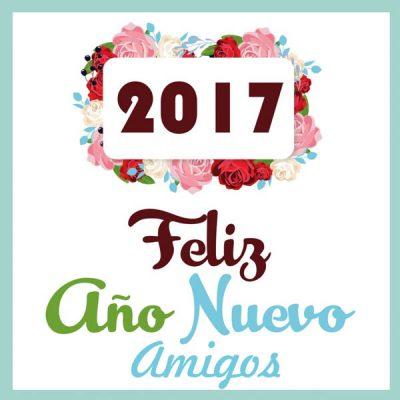feliz ano nuevo amigos rosas