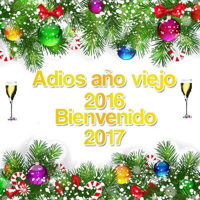 saludos de ano nuevo bienvenido