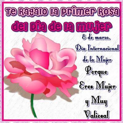 palabras para el dia de la mujer primera rosa