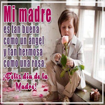 mensajes cortos para el dia de la madre angel