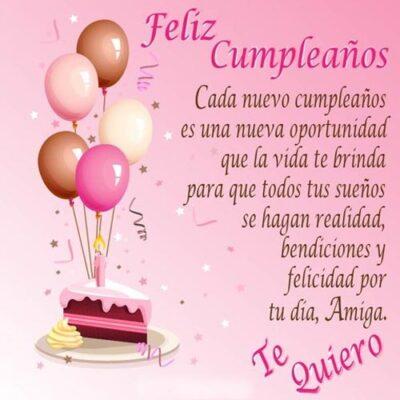 Feliz Cumpleaños Amiga Bendiciones Te Quiero