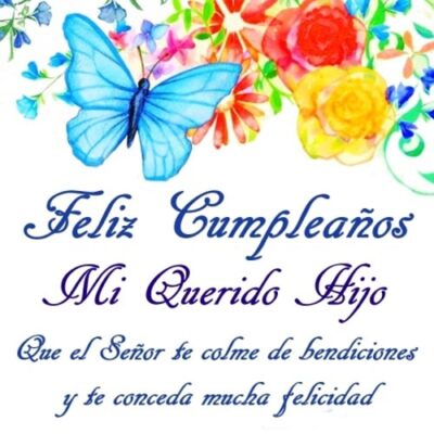 Feliz cumpleaños Hijo Frases Cristianas Querido